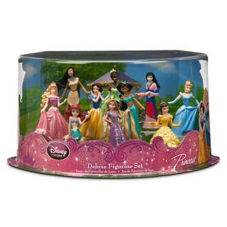 Disney Deluxe Princess Doll Play Set Figure Toys 10pc Lot Girls