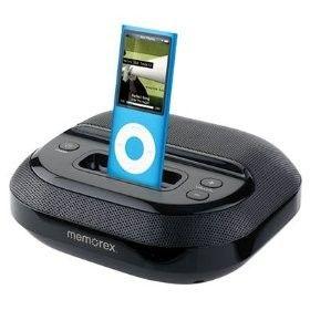 Memorex Portable Small Speakers iPod Nano Classic Dock  CD Player