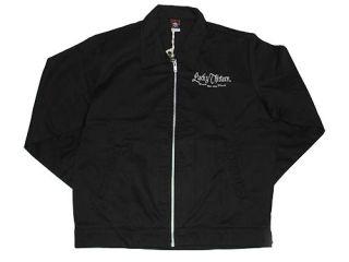 13 Punk Rockabilly Greaser Hot Rod Mens Black El Royal Chino Jacket XL
