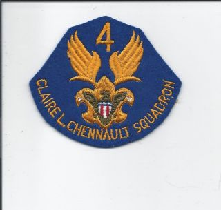 WWII 4th Claire L Chennault Squadron Air Scouts Patch