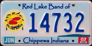 MINNESOTA RED LAKE CHIPPEWA NATION TRIBE Indian License Plate
