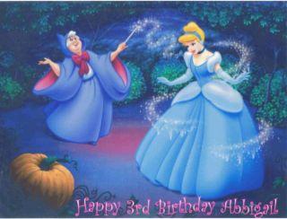 Edible Cake Image Princess Cinderella Party Topper