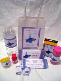 Cinderella Princess Birthday PDF CD w Invitation Favor Water Candy Gum