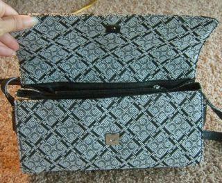 Claudio Ferrici Authentic Signature Black Handbag Purse