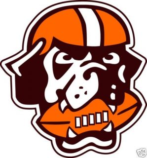 Cleveland Browns Logo Dawg Pound Window Wall Vinyl Car Sticker Any