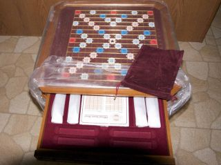 FRANKLIN MINT SCRABBLE GAME NEVER PLAYED COMPLETE