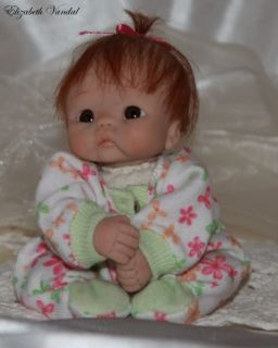 Mini Sculpt OOAK Polymer Clay Baby Girl Art Doll by Elizabeth Vandal