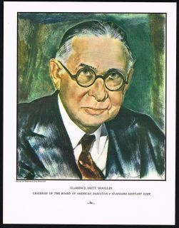 1935 Clarence Mott Woolley Portrait Magazine Print American Radiator