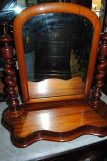 RARE Antique Mahogany Cheval Shaving Mirror Circa 1850
