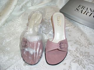 Brand New Never Worn in Box Franco Sarto Rose Suede Sandals Size 8 1 2