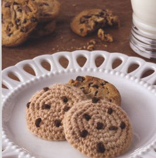 Crochet Pattern Chocolate Chip Cookie Kids Toy Food