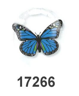 Party Supplies Clear Blue Butterfly Balloon