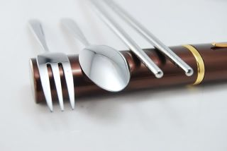 Stainless Steel Tableware Chopsticks Spoon Fork Camp Hikesets