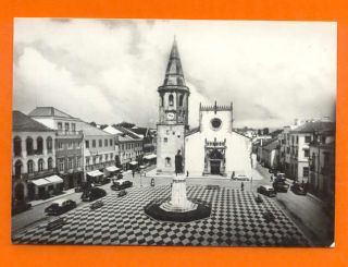 Postcard Portugal Tomar Taxi Cab Classic Cars 1950s