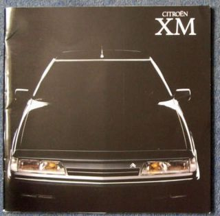 Citroen XM Car Sales Colours Brochure Price List 1990