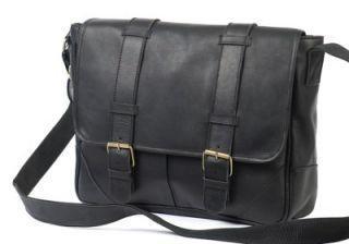 ClaireChase Sorrento Premium Leather Messenger Bag Black