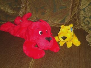 Scholastic Large Clifford Big Red Dog 20 T Bone 6 w Tags Stuffed