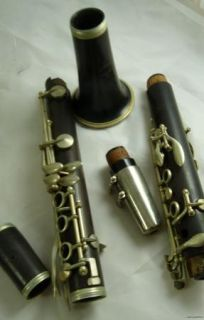 Vintage Noblet Paris Clarinet Antique Music Instrument in Case