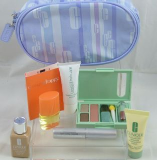 CLINIQUE Makeup Palette + Perfume + Skin Care set With Bag   8pcs