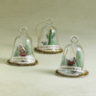 other items christmas at the cabin glass dome bell ornament