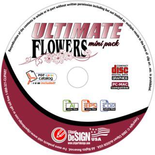 Flowers Clipart Vinyl Cutter Plotter Vector Clip Art CD