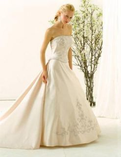 NWT 5362 Christina Wu Wedding dress Bridal gown Antique gold