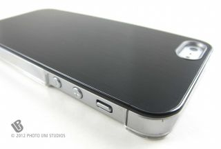 Black Aluminum Clear Side Rear Hard Case Cover Apple iPhone 5 6th Gen
