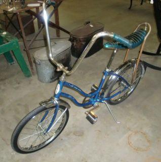 Vintage Schwinn Girls Bicycle Banana Seat High Rise Monkey Handlebars