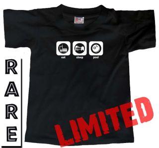 Eat Sleep Pool Snooker Table Ball Player Gift T Shirt
