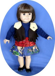 American Girl Doll Clothes Western Wear Cowgirl Skirt Vest 18 Doll