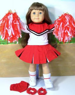 Doll Clothes fits American Girl~10PC CHEERLEADER OUTFIT NEW