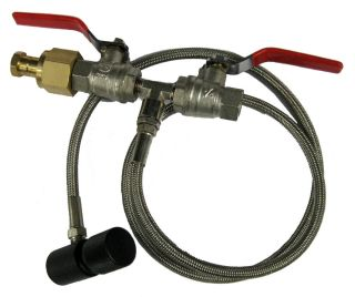 Paintball Co2 Refill Station Fill adapter with 37 Steel Braided hose