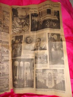 11 24 64 Newspaper John Kennedy Death Lee Harvey Oswald