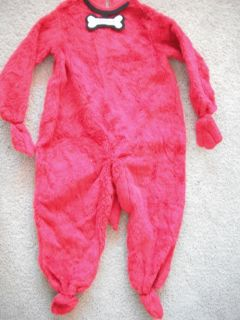 Girls Boys Clifford The Big Red Dog Halloween Costume Rubies Fur Suit