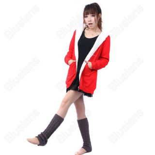 Casual Loose Hoodie Zipper Long Warm Winter Coat Korean Style