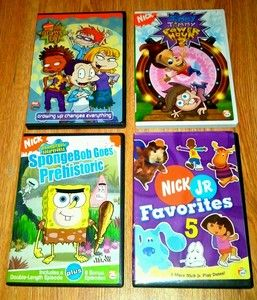 DVD Lot Nickelodeon Nick Jr Dora Blues Clues SpongeBob Odd Parents EUC