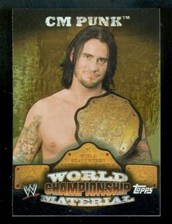 WWE cm Punk 2010 Topps World Championship Belt Puzzle