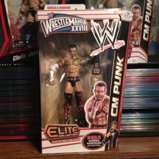 CM PUNK WWE MATTEL ELITE BEST OF PPV EXCLUSIVE WRESTLEMANIA 28 FIGURE