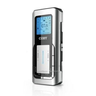 Coby CX 90 Digital Portable Am FM Pocket Radio Silver