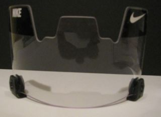 LOT OF (6) SIX UNIVERSAL CLEAR NIKE FOOTBALL VISORS HELMET FACE GUARD