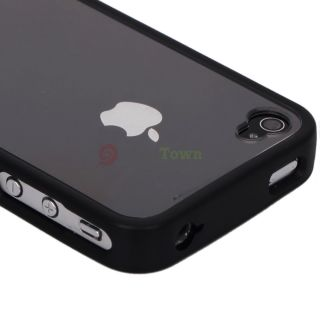 New Hard Side Bumper with Clear Back Cover Case for Apple iPhone 4 4G