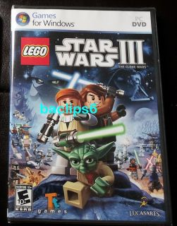 Lego Star Wars III The Clone Wars PC DVD Game New SEALED