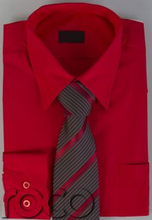 Cheap Boys Red Formal Wedding Prom Page Boy Shirt and Tie Set 2 15