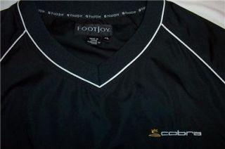 COBRA FOOTJOY GOLF WIND SHIRT MENS XL BLACK TITLEIST GOLF BALL