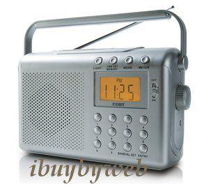 Portable AM/FM/NOAA Weather Alert Band Emergency Radio w/ Alarm Clock