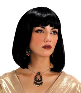 CLEOPATRA EGYPTIAN VENDETTA BLACK COSTUME WIG NEW