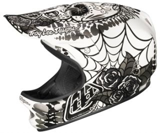 Troy Lee Designs D2 Composite   Voodoo White 2012