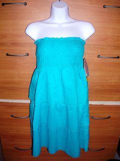 Coco Rave $88 Women Medium 8 10 Swimsuit Cover Up Sun Dress Skirt Aqua