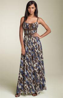 Robert Rodriguez Printed Chiffon Maxi Dress