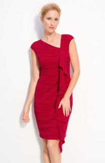 JAX Ruffle Front Jersey Sheath Dress